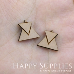 4pcs DIY Laser Cut Wooden Triangles Charms SWC57