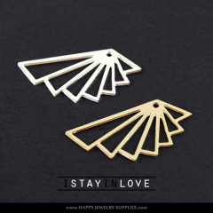 2pcs Geometry Charm Pendant Fit For Necklace Earring Brooch GDSD032