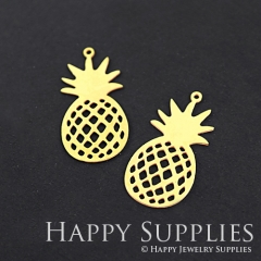 6pcs Raw Brass Pineapple Charm Pendant Fit For Necklace Earring Brooch RD130