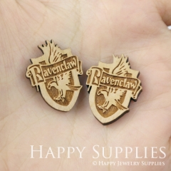 4pcs DIY Laser Cut Wooden Ravenclaw Crest Patch Harry Potter Charms SWC156