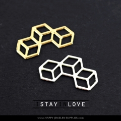 2pcs Geometric Charm Pendant Fit For Necklace Earring Brooch GDSD033
