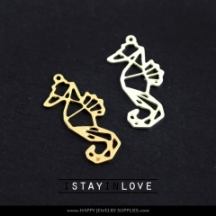 2pcs Hippocampus Charm Pendant Fit For Necklace Earring Brooch GDSD077