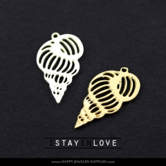2pcs Conch Charm Pendant Fit For Necklace Earring Brooch GDSD046