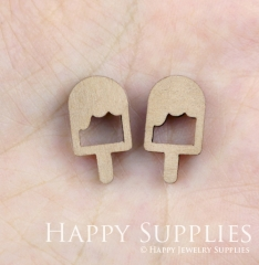 4pcs DIY Laser Cut Wooden Lolly Charms SWC90