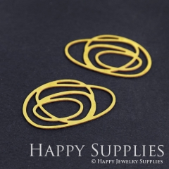 4pcs Raw Brass Swirl Charm Pendant Fit For Necklace Earring Brooch RD186