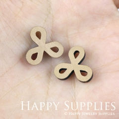 4pcs DIY Laser Cut Wooden Knot Charms SWC119