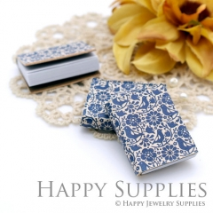 2pcs Blue Flower Bird Handmade Mini Photo Leather Book BK16