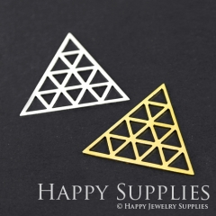 2pcs Triangle Charm Pendant Fit For Necklace Earring Brooch GDSD120