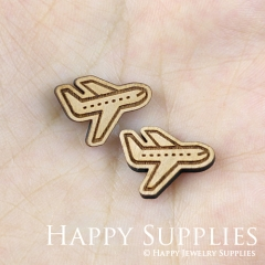 4pcs DIY Laser Cut Wooden Aircraft Charms SWC140