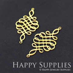 4pcs Raw Brass Knot Charm Pendant Fit For Necklace Earring Brooch RD144