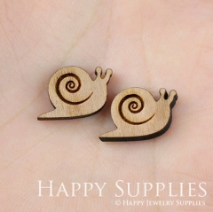 4pcs DIY Laser Cut Wooden Snail Charms SWC13