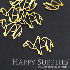 10pcs Raw Brass Camel Charm Pendant Fit For Necklace Earring Brooch RD076
