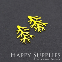 10pcs Raw Brass Tree Branch Charm Pendant Fit For Necklace Earring Brooch RD020