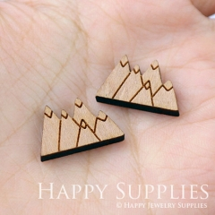 4pcs DIY Laser Cut Wooden Hill Charms SWC16