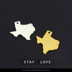 2pcs Texas Brass Charm Pendant Fit For Necklace Earring Brooch GDSD023