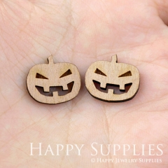 4pcs DIY Laser Cut Wooden Pumpkin Charms SWC33