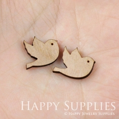 4pcs DIY Laser Cut Wooden Bird Charms SWC12
