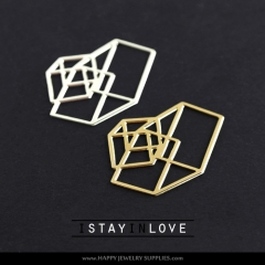 1pcs Geometry Charm Pendant Fit For Necklace Earring Brooch GDSD040