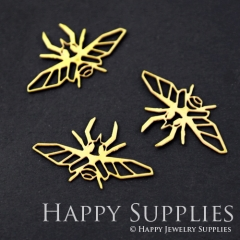 10pcs Raw Brass Beatles Charm Pendant Fit For Necklace Earring Brooch RD090 Without Loop