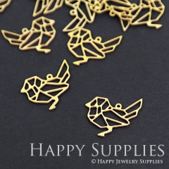 10pcs Raw Brass Bird Charm Pendant Fit For Necklace Earring Brooch RD068