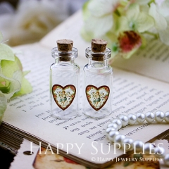 4pcs 35x16mm Angles Handmade Photo Glass Tiny Bottle Vials Pendants PB-M03