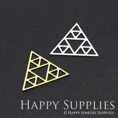 1pcs Triangle Charm Pendant Fit For Necklace Earring Brooch GDSD137