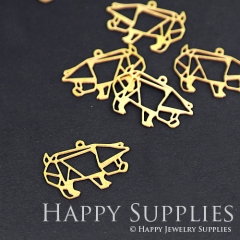 10pcs Raw Brass Pig Charm Pendant Fit For Necklace Earring Brooch RD066