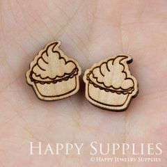 4pcs DIY Laser Cut Wooden Ice Cream Charms SWC36