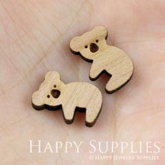 4pcs DIY Laser Cut Wooden Koala Charms SWC03
