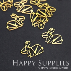 10pcs Raw Brass Rabbit Charm Pendant Fit For Necklace Earring Brooch RD073