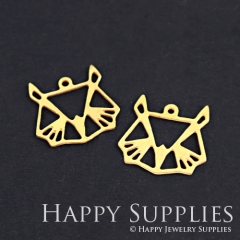 10pcs Raw Brass Rabbit Charm Pendant Fit For Necklace Earring Brooch RD177