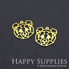 8pcs Raw Brass Bear Charm Pendant Fit For Necklace Earring Brooch RD215