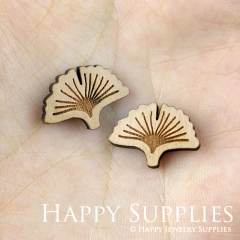 4pcs DIY Laser Cut Wooden Ginkgo Charms SWC141