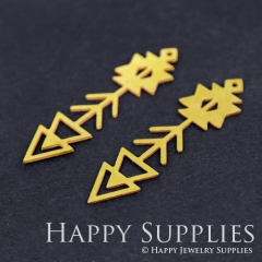 4pcs Raw Brass Arrow Charm Pendant Fit For Necklace Earring Brooch RD185