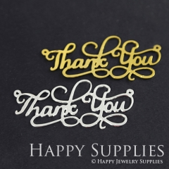 1pcs Thank You Charm Pendant Fit For Necklace Earring Brooch GDSD161
