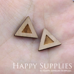 4pcs DIY Laser Cut Wooden Triangle Charms SWC56