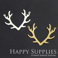 1pcs Antlers Charm Pendant Fit For Necklace Earring Brooch GDSD167