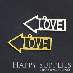 2pcs Love Arrow Charm Pendant Fit For Necklace Earring Brooch GDSD148
