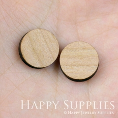 4pcs DIY Laser Cut Wooden Round Charms SWC42