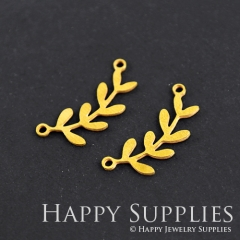 10pcs Raw Brass Leaf Charm Pendant Fit For Necklace Earring Brooch RD126