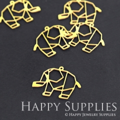 10pcs Raw Brass Elephant Charm Pendant Fit For Necklace Earring Brooch RD072