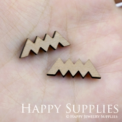 4pcs DIY Laser Cut Wooden Mountain Charms SWC53