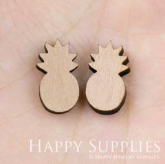 4pcs DIY Laser Cut Wooden Pineapple Charms SWC31