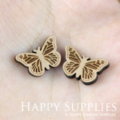 4pcs DIY Laser Cut Wooden Butterfly Charms SWC100