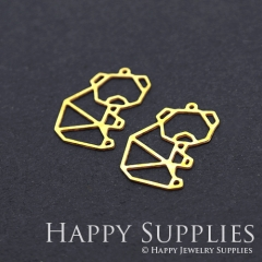 8pcs Raw Brass Koala Charm Pendant Fit For Necklace Earring Brooch RD211