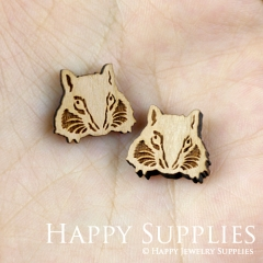 4pcs DIY Laser Cut Wooden Wolf Charms SWC132