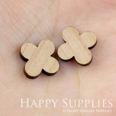 4pcs DIY Laser Cut Wooden Flower Charms SWC07
