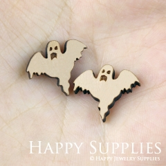 4pcs DIY Laser Cut Wooden Ghost Charms SWC107