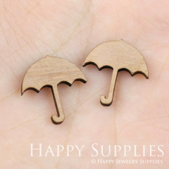 4pcs DIY Laser Cut Wooden Umbrella Charms SWC32