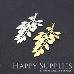 1pcs Leaves Charm Pendant Fit For Necklace Earring Brooch GDSD199